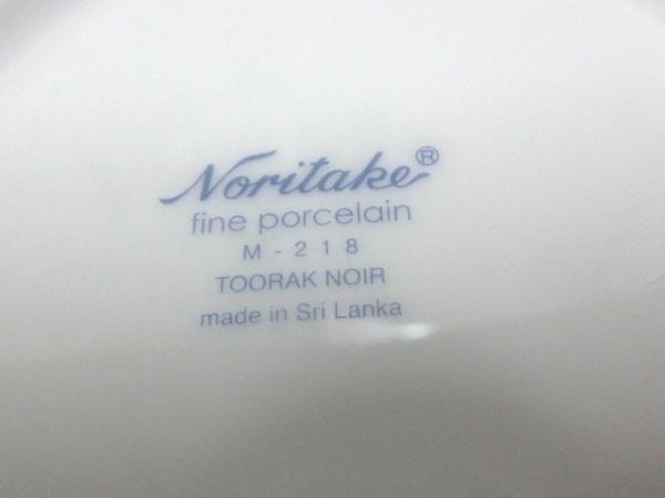 ノリタケ プレート新品同様  白×シルバー×黒 5枚セット 陶器 3