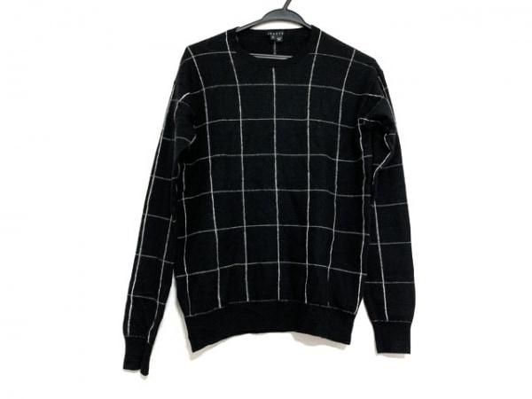 theory(セオリー) 長袖セーター サイズS レディース美品  黒×白 チェック柄