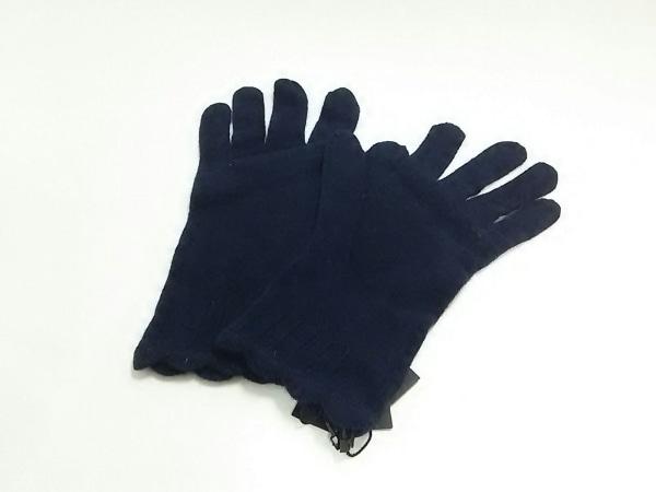 バナナリパブリック 手袋 one size レディース新品同様  ネイビー ウール