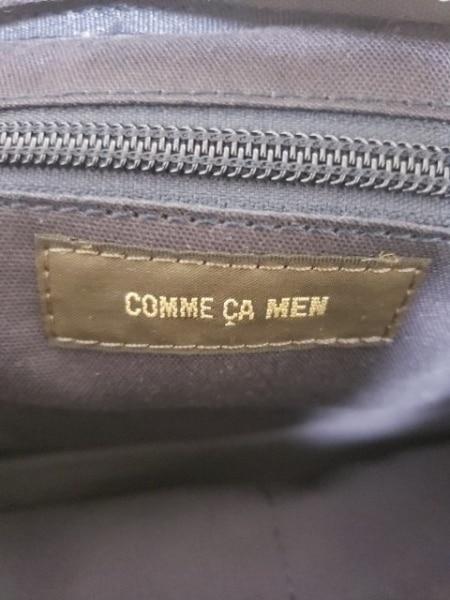 COMME CA MEN(コムサメン) ウエストポーチ アイボリー×黒 ナイロン×合皮
