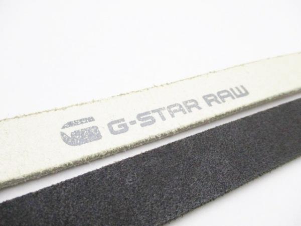G-STAR RAW(ジースターロゥ) ベルト 75S 白×黒 二連 エナメル(レザー)