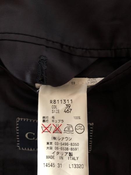 カナーリ シングルスーツ サイズ467 メンズ ダークネイビー×グレー ストライプ