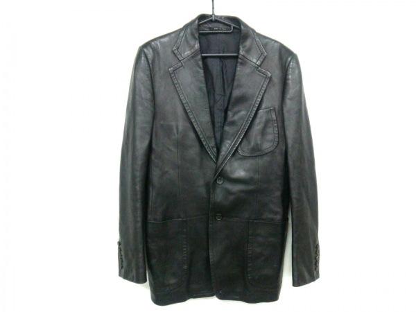 GUCCI(グッチ) ジャケット サイズ46 S メンズ 黒 レザー/冬物
