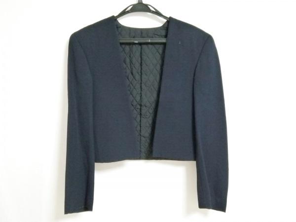 コムデギャルソン ジャケット サイズS レディース ネイビー 変形デザイン/襟取外し可