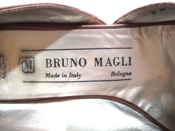 BRUNOMAGLI(ブルーノマリ) パンプス 34 レディース ブラウン×ダークブラウン レザー