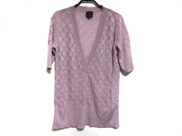 FENDI(フェンディ) 半袖セーター サイズ48 XL レディース ピンク