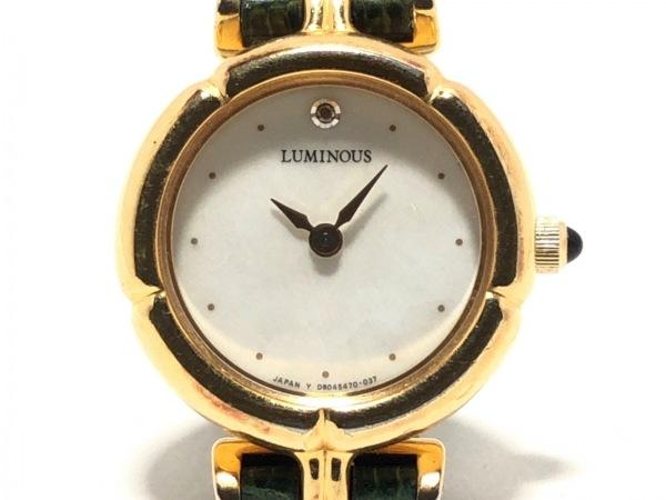 ORIENT(オリエント) 腕時計 D80546-00 CS レディース 革ベルト 白