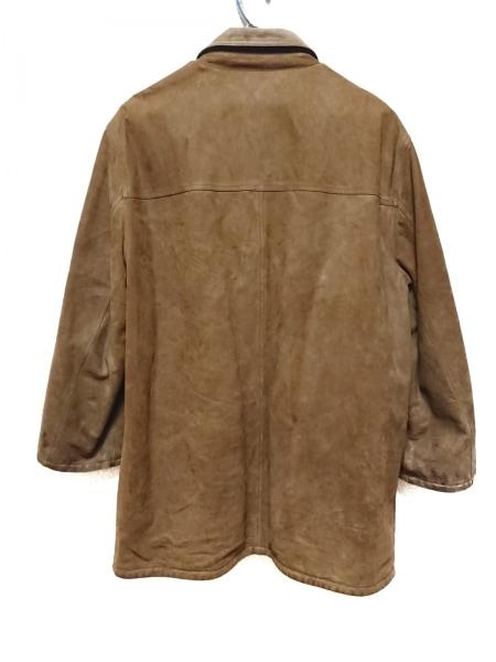 ゼニア コート サイズ52 メンズ ダークブラウン×ダークネイビー リバーシブル/冬物