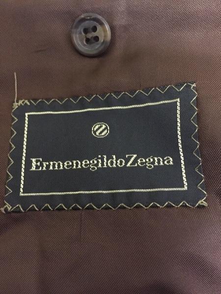 ゼニア ジャケット サイズ46 XL メンズ美品  ダークブラウン×アイボリー チェック柄