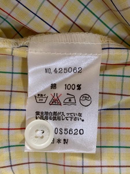 ピッコーネ 半袖シャツブラウス サイズ38 S レディース美品  イエロー×マルチ