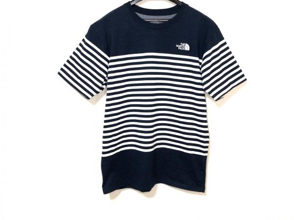 THE NORTH FACE(ノースフェイス) 半袖Tシャツ サイズM メンズ ネイビー×白 ボーダー