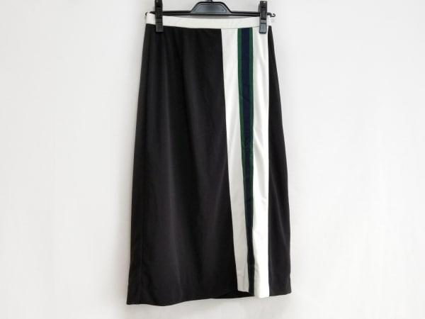 Adonisis(アドニシス) ロングスカート サイズF レディース美品  黒×白×マルチ