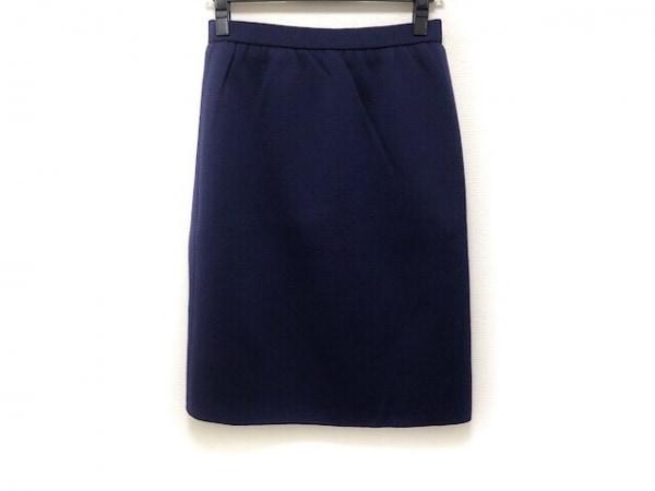 イヴサンローラン スカート サイズ11 M レディース美品  ネイビー ニット