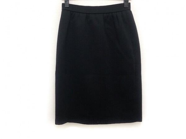 YvesSaintLaurent(イヴサンローラン) スカート サイズ9 M レディース美品  黒 ニット