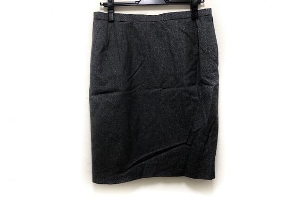 イヴサンローラン スカート サイズ38 M レディース美品  ダークグレー ラメ