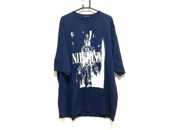 LAD MUSICIAN(ラッドミュージシャン) 半袖Tシャツ メンズ新品同様  ネイビー×白