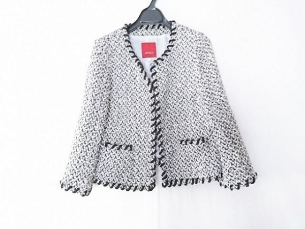 AMACA(アマカ) ジャケット サイズ38 M レディース 白×黒×ゴールド
