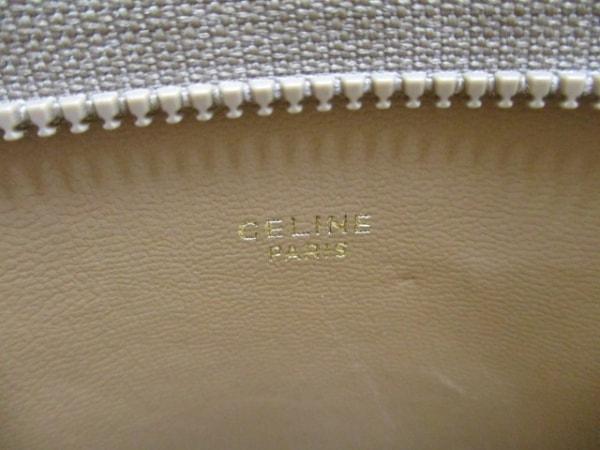 CELINE(セリーヌ) ポーチ マカダム柄 ベージュ×ブラウン PVC(塩化ビニール)×レザー