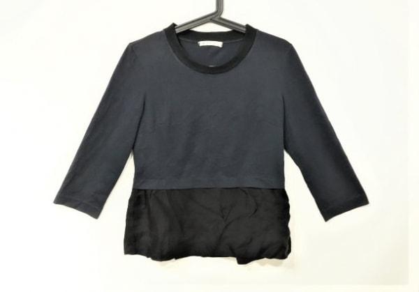 MARNI(マルニ) 長袖カットソー サイズ40 M レディース ネイビー×黒