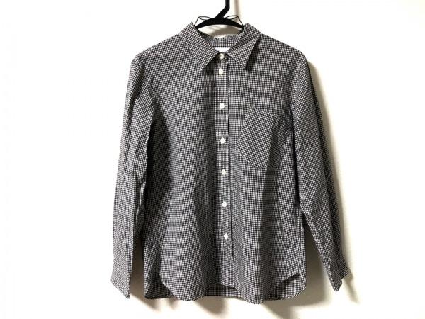 MHL.(マーガレットハウエル) 長袖シャツブラウス サイズ2 M レディース美品  黒×白