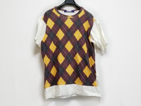 コムデギャルソンジュンヤワタナベメン 半袖Tシャツ サイズM メンズ アーガイル柄