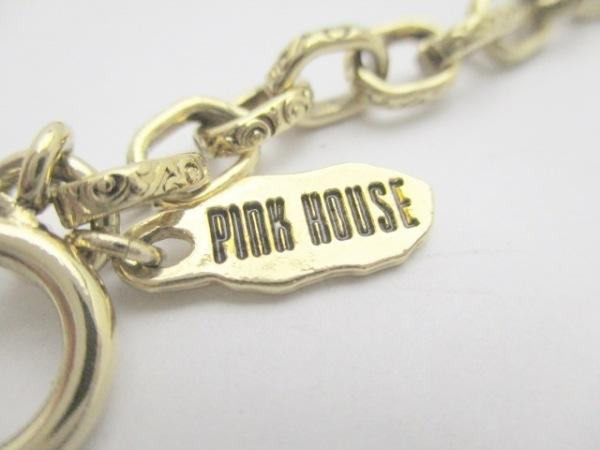 ピンクハウス ベルト ゴールド×アイボリー クロス 金属素材×フェイクパール