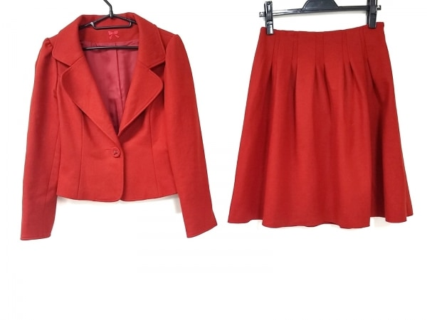 M'S GRACY(エムズグレイシー) スカートスーツ サイズ36 S レディース美品  レッド