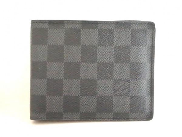 ルイヴィトン 2つ折り財布 ダミエグラフィット ポルトフォイユ・フロリン N63074