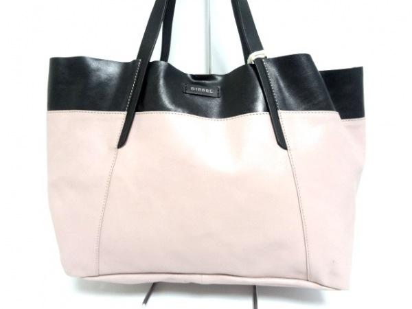 DIESEL(ディーゼル) トートバッグ美品  ピンク×黒 レザー