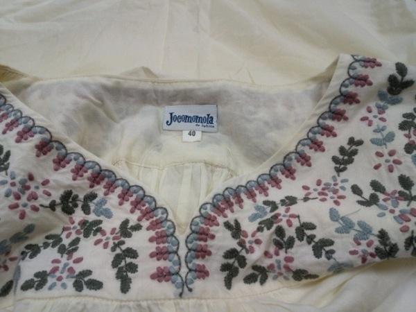 ホコモモラ ワンピース サイズ40 XL レディース アイボリー×ピンク×マルチ 刺繍