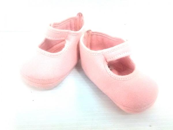 HERMES(エルメス) 靴 ユニセックス ピンク ベビーシューズ ウール×アンゴラ