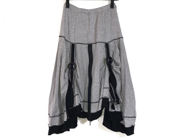 EIKO KONDO(エイココンドウ) スカート サイズF レディース グレー×黒