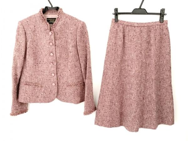 Leilian(レリアン) スカートスーツ サイズ13 L レディース ピンク×パープル×マルチ