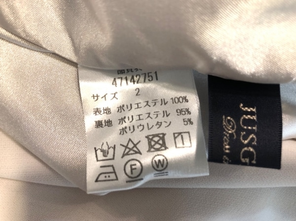 ジャスグリッティー レディースパンツスーツ サイズ2 M レディース美品  アイボリー