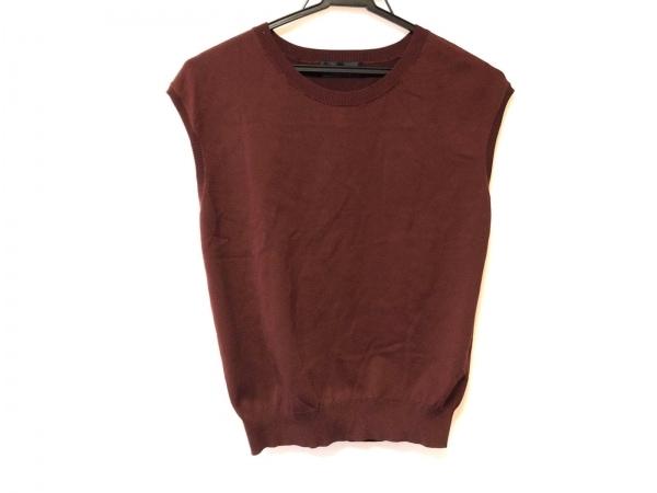 ジャスグリッティー ノースリーブセーター サイズ2 M レディース美品  ブラウン