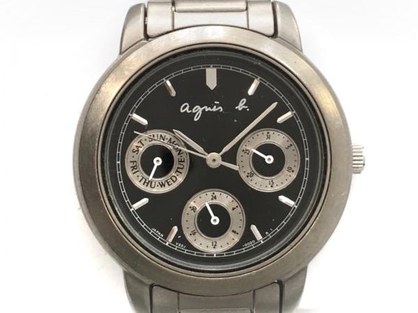 agnes b(アニエスベー) 腕時計 V33J0020 ボーイズ クロノグラフ ダークネイビー