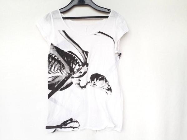 ワイズレッドレーベル 半袖Tシャツ サイズ2 M レディース美品  アイボリー×黒