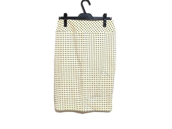 ダーマコレクション スカート サイズ11 M レディース新品同様  アイボリー×黒
