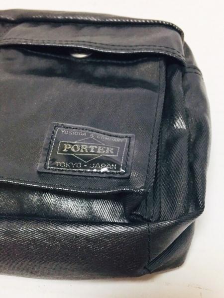 PORTER/吉田(ポーター) ウエストポーチ美品  - - 黒 コーティングキャンバス