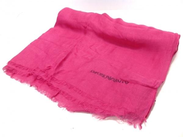 EMPORIOARMANI(エンポリオアルマーニ) ストール(ショール)美品  ピンク×黒 モダール