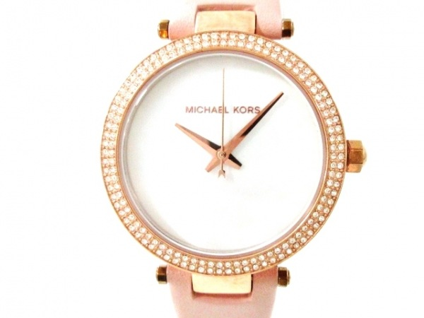 マイケルコース 腕時計美品  ミニパーカー MK-2590 レディース シェルホワイト