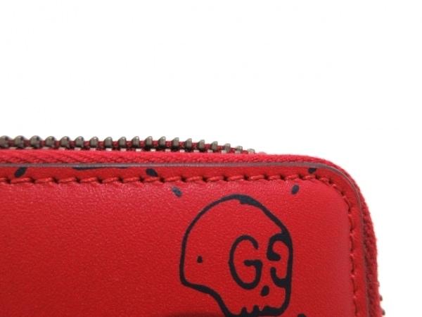 GUCCI(グッチ) カードケース美品  - 448465 レッド×黒 レザー