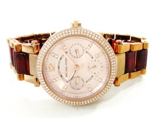 MICHAEL KORS(マイケルコース) 腕時計 MK-6239 レディース ピンクベージュ