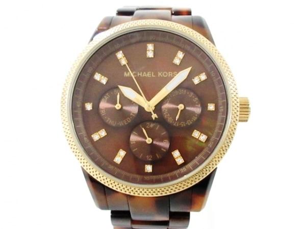 MICHAEL KORS(マイケルコース) 腕時計美品  MK-5038 レディース ダークブラウン