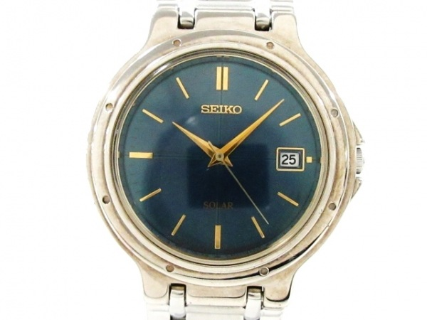 SEIKO(セイコー) 腕時計美品  V145-0D50 レディース ネイビー