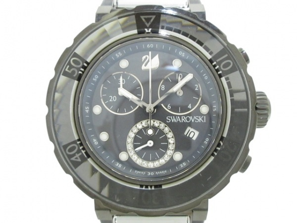 SWAROVSKI(スワロフスキー) 腕時計美品  - レディース 黒