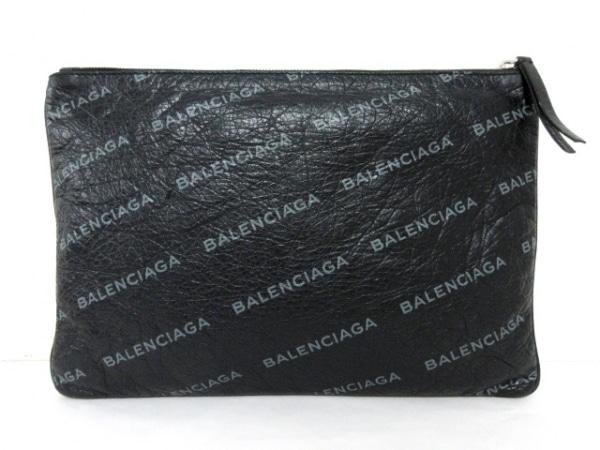 バレンシアガ クラッチバッグ美品  スーパーマーケットクリップM 506794 黒×グレー