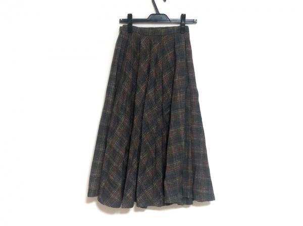 MISSONI(ミッソーニ) 巻きスカート サイズ42 M レディース美品  カーキ×ピンク