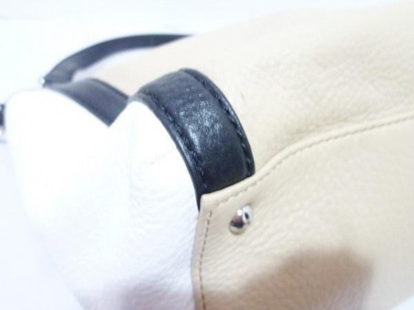 RalphLauren(ラルフローレン) ハンドバッグ ベージュ×黒×白 R・L・L レザー