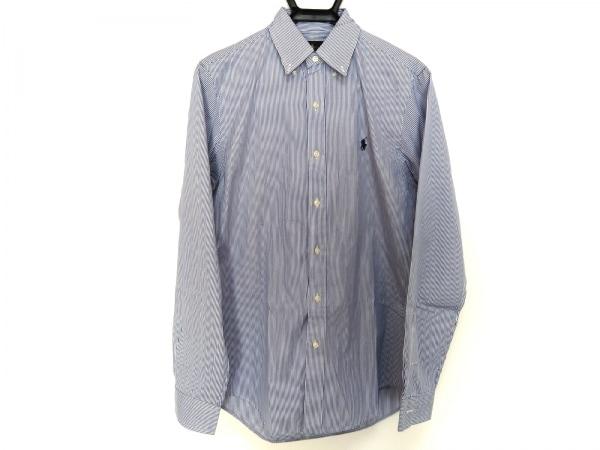 RalphLauren(ラルフローレン) 長袖シャツ サイズS メンズ ブルー×白 ストライプ